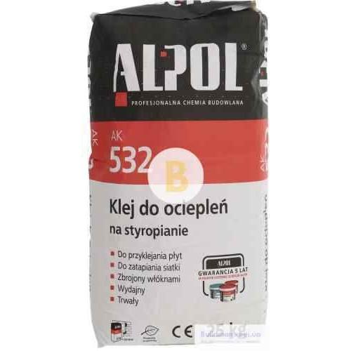 Клей для пенополистирола ALPOL АК 532 25 кг