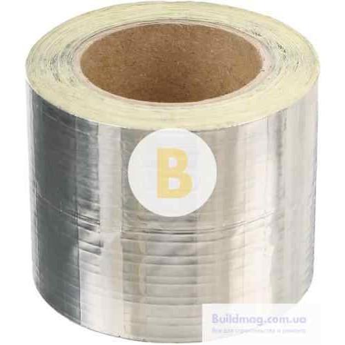 Лента монтажная алюминиевая армированная клейкая 30 мкм x 5 см x 10 м