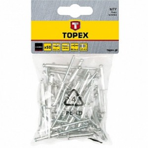 Заклепка вытяжная 4.8x12.5 мм 50 шт Topex