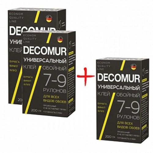 Клей для обоев Decomur Decomur Универсал 2+1 шт.