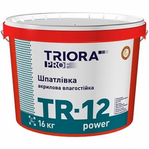 Шпаклевка Triora TR-12 power влагостойкая 16 кг