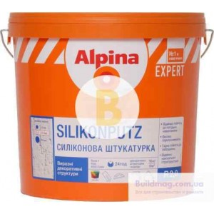 Декоративная штукатурка барашек Alpina Expert Silikon Fassadenputz R2,0 2 мм 16 кг