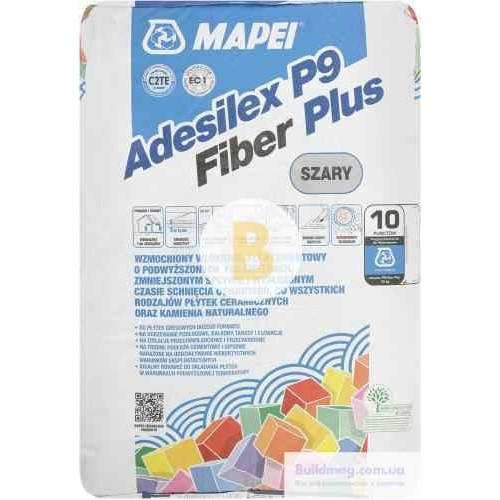 Клей для плитки Mapei Adesilex P9 Fiber plus 25кг