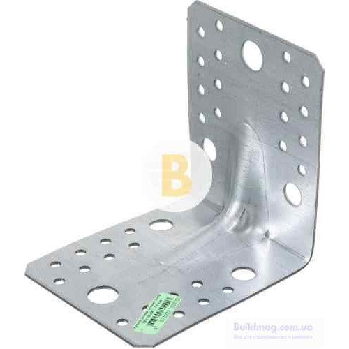 Усиленный уголок с ребром жесткости универсальный 105x105x90мм 1,8мм