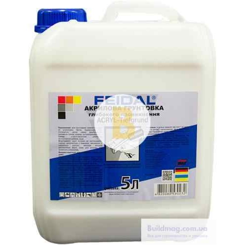 Грунтовка глубокого проникновения Feidal Acryl-Tiefgrund 5 л