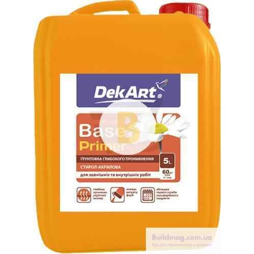 Грунтовка глубокого проникновения DekArt Base 5 л