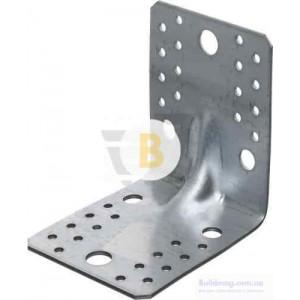 Усиленный уголок с ребром жесткости 105x105x90мм 2,5мм