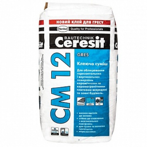Клей для плитки Ceresit СМ-12 25кг