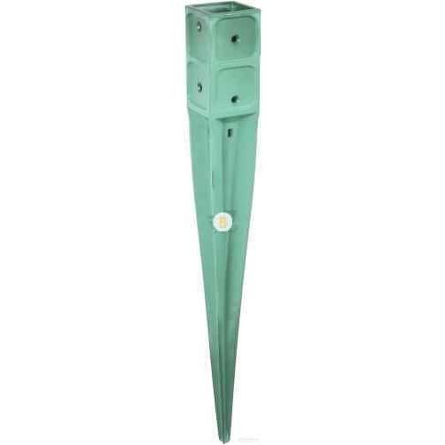 Забивная опора для столба зеленая 760x71x71мм 1 шт.