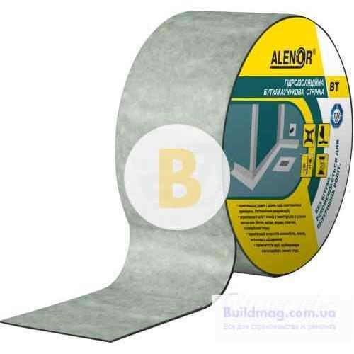 Лента бутилкаучуковая гидроизоляционная на нетканой основе Alenor ВТ 100 мм (10 м)