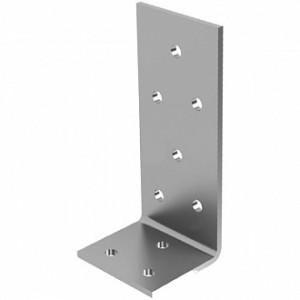 Перфорированный крепежный уголок ассиметричный 90x35x40мм 2,5мм