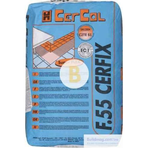 Клей для плитки Cercol F.55 Cerfix 25кг