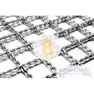 Сетка канилированная 60x60x3,5 мм оцинкованная (2x1 м)