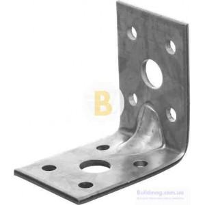 Усиленный уголок с ребром жесткости универсальный 50x50x35мм 2,5мм