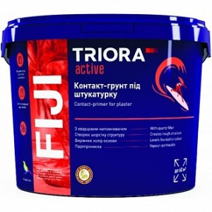 Грунтовка адгезионная Triora Fiji контакт-грунт под штукатурку 10 л