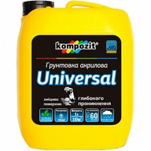 Грунтовка глубокого проникновения Kompozit Universal 10 л
