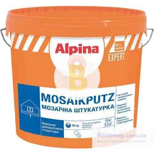 Декоративная штукатурка мозаичная Alpina Expert Mosaikputz 15 1,6-2 мм 16 кг