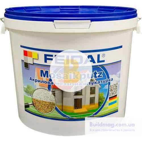 Декоративная штукатурка мозаичная Feidal Mosaikputz mini А14 0,63-2 мм 15 кг