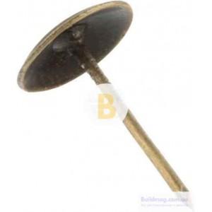 Гвозди декоративные 100 шт, коричневые