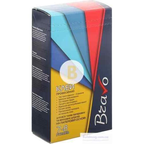 Клей для обоев Bravo профессиональный для виниловых обоев на бумажной основе 250 г