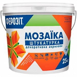Декоративная штукатурка мозаичная Ферозит Мозаика Т-157 1,6 мм 14 кг