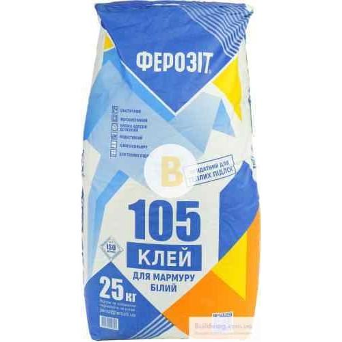 Клей для плитки Ферозит 105 25кг