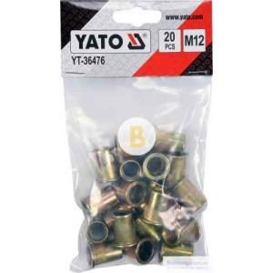 Набор 14,8х22 мм 20 шт./уп. золото M12 YATO YT-36476