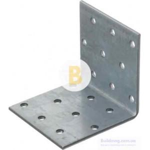 Перфорированный крепежный уголок равносторонний 60x60x60мм 2,5мм
