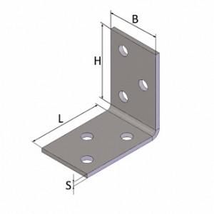 Перфорированный крепежный уголок 40x40x25мм 2мм