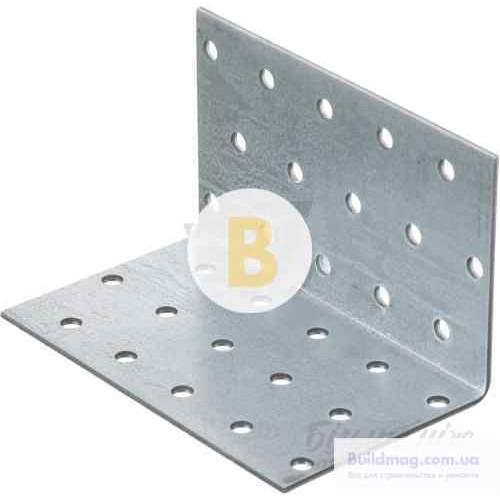 Перфорированный крепежный уголок равносторонний 60x60x100мм 1,8мм