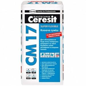 Клей для плитки Ceresit эластичный СМ-17 25кг
