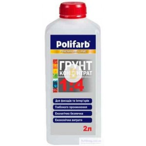 Грунт глубокопроникающая Polifarb концентрат 1: 4 2 л