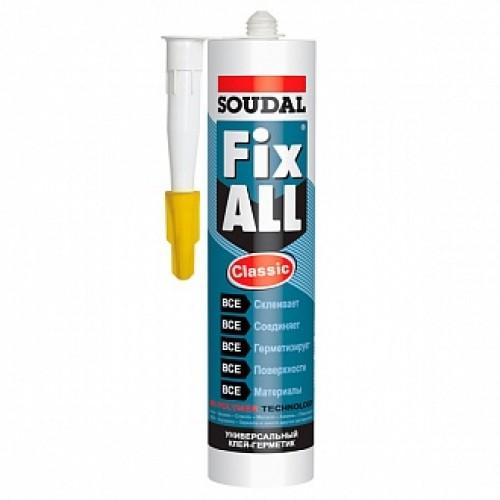 Клей-герметик SOUDAL FIX ALL Classic 290мл серый