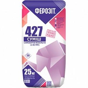 Самовыравнивающийся пол Ферозит 427 25 кг 2-80 мм