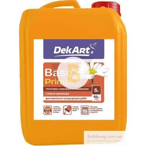 Грунтовка глубокого проникновения DekArt Base 10 л