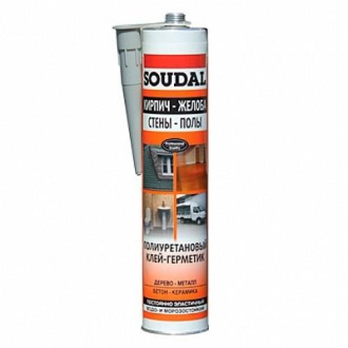 Клей-герметик SOUDAL PU Sealant 300 мл коричневый