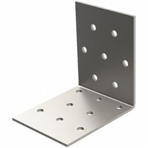 Перфорированный крепежный уголок равносторонний 40x40x40мм 2мм 10 шт.