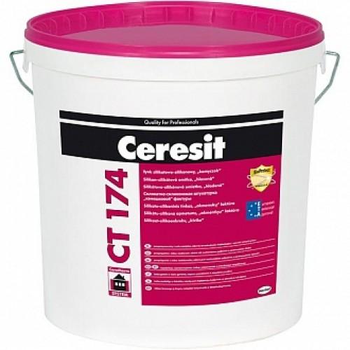 Декоративная штукатурка камешковая Ceresit CT 174 25 кг