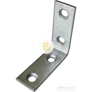 Перфорированный крепежный уголок узкий 50x50x15мм 2мм 10 шт.