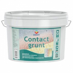 Грунтовка адгезионная Eskaro Contact grunt 3 кг