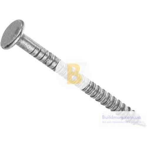 Гвозди кольцевые 2.2x30 мм вес белый цинк