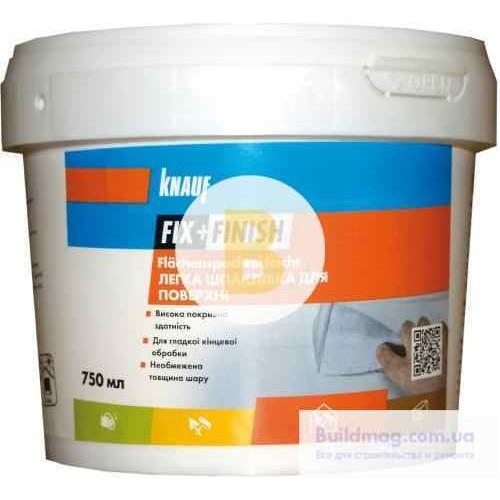 Шпаклевка ремонтная Knauf F+F для поверхности легкая 750 мл