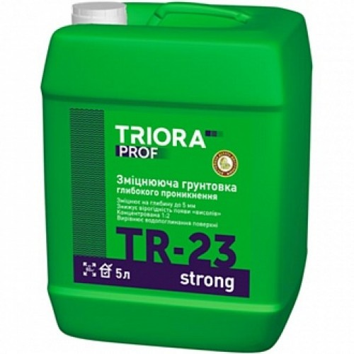 Грунтовка глубокого проникновения Triora TR-23 strong 5 л