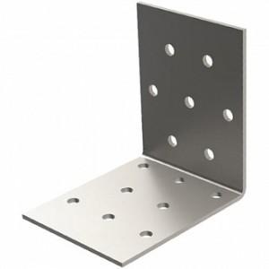 Перфорированный крепежный уголок равносторонний 40x40x40мм 2мм 6 шт.