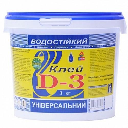 Клей универсальный водостойкий ИРКОМ D3 3кг