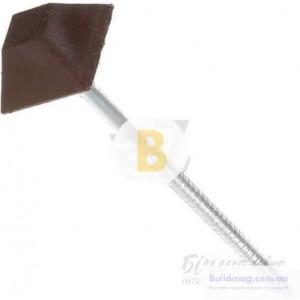 Гвозди для битумной черепицы 3.2x70 мм 100 шт ромбовидные цинк коричневый