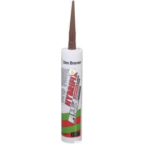 Клей-герметик Den Braven Zwaluw Hybrifix 290мл коричневый