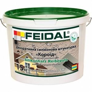 Декоративная штукатурка короед Feidal Silikonharz Reibeputz 2 мм 25 кг