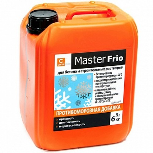 Противоморозная добавка Coral Master-Frio 5 л