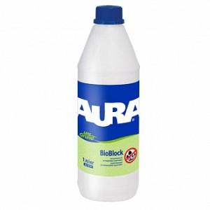 Антигрибковая грунтовка Aura UniGrund BioBlock антиплесневая 1 л